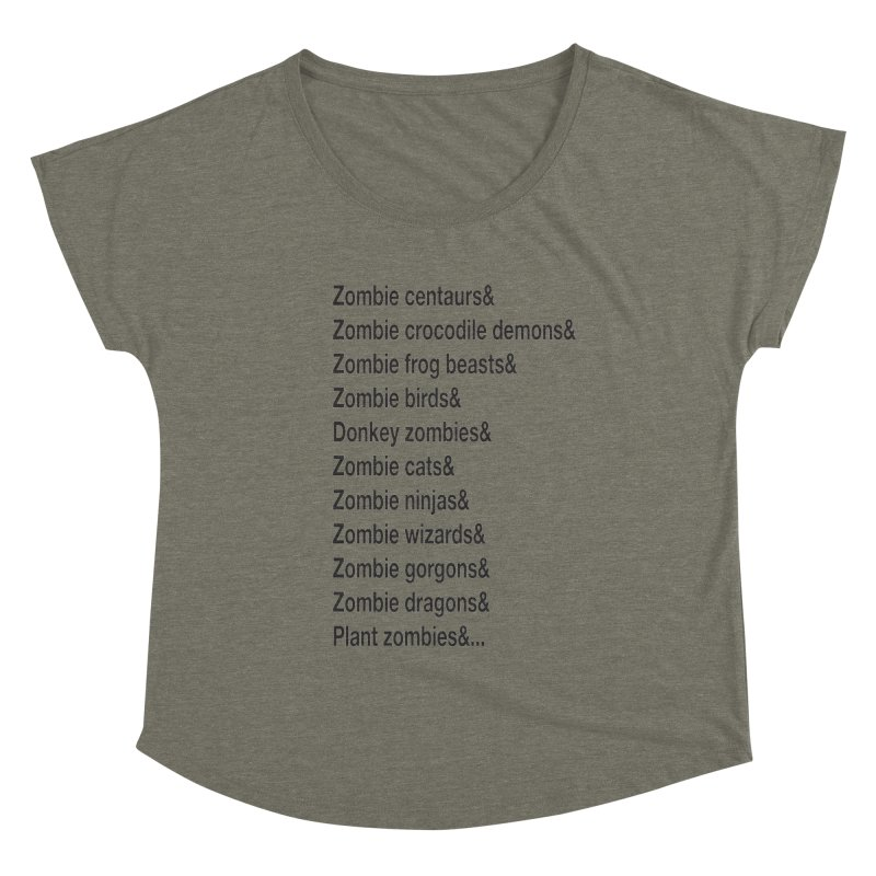 All the Zombies Women's Scoop Neck by The Schwaggering