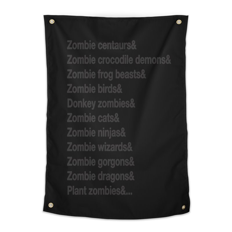 All the Zombies Home Tapestry by The Schwaggering