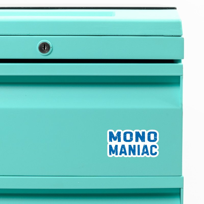 Mono Maniac (Blue) Accessories Magnet by The Schwaggering