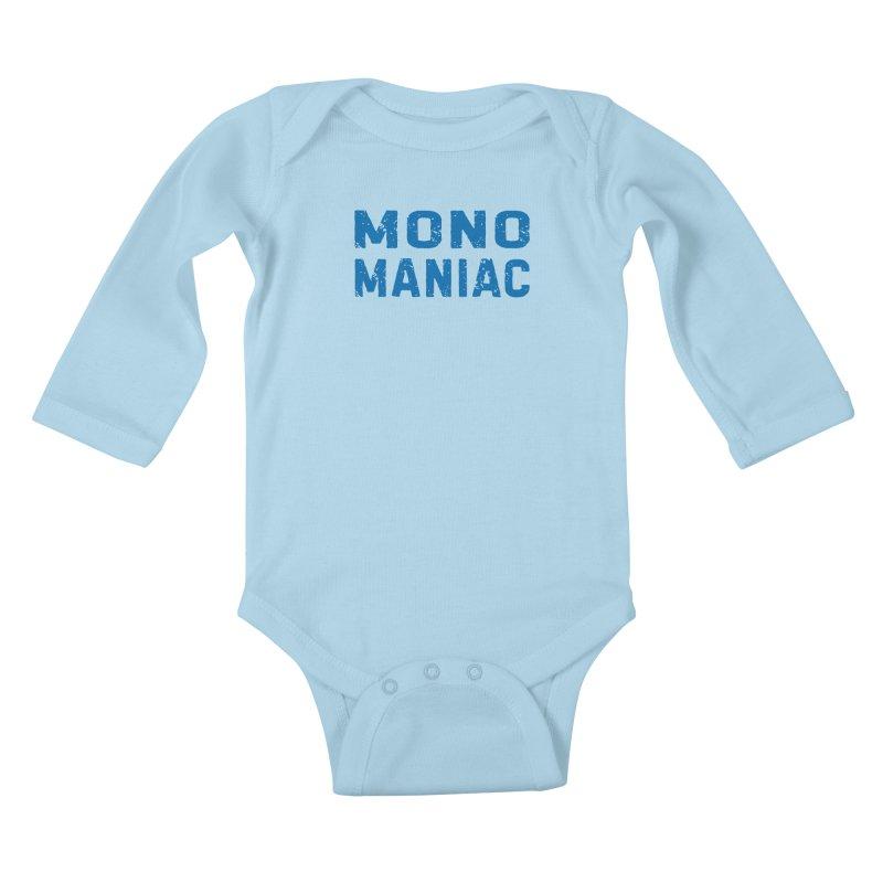 Mono Maniac (Blue) Kids Baby Longsleeve Bodysuit by The Schwaggering