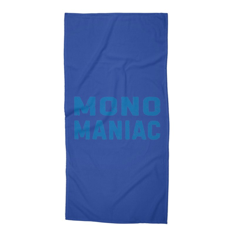 Mono Maniac (Blue) Accessories Beach Towel by The Schwaggering