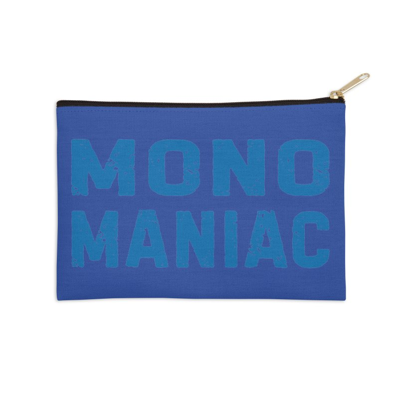 Mono Maniac (Blue) Accessories Zip Pouch by The Schwaggering