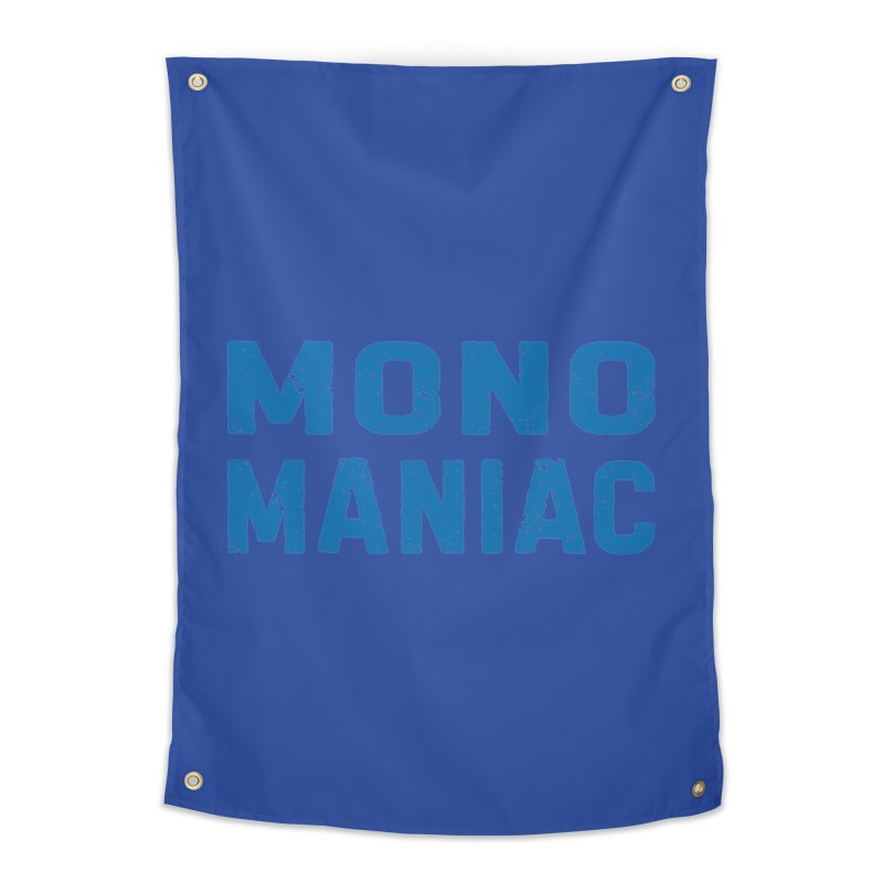Mono Maniac (Blue) Home Tapestry by The Schwaggering