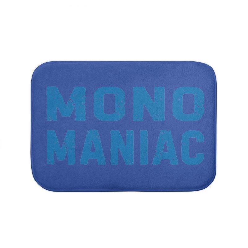 Mono Maniac (Blue) Home Bath Mat by The Schwaggering