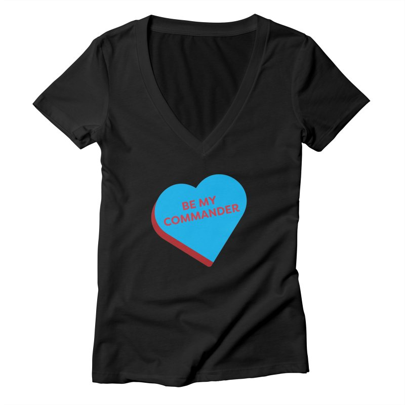 Be My Commander (Magic the Gathering Valentine - Commander) Women's V-Neck by The Schwaggering