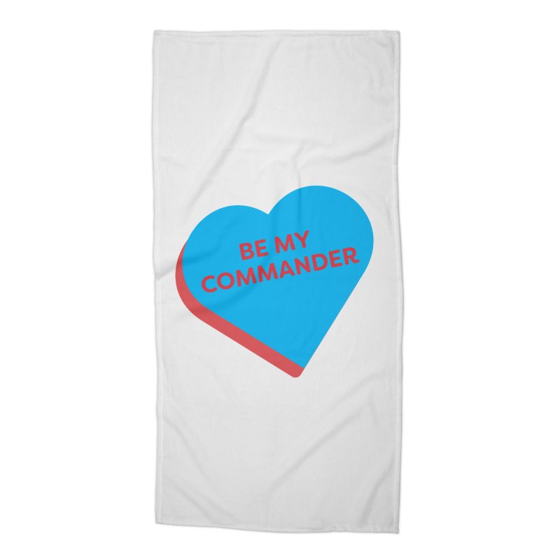 Be My Commander (Magic the Gathering Valentine - Commander) Accessories Beach Towel by The Schwaggering