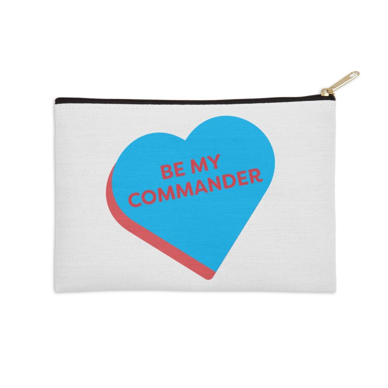 Be My Commander (Magic the Gathering Valentine - Commander) Accessories Zip Pouch by The Schwaggering