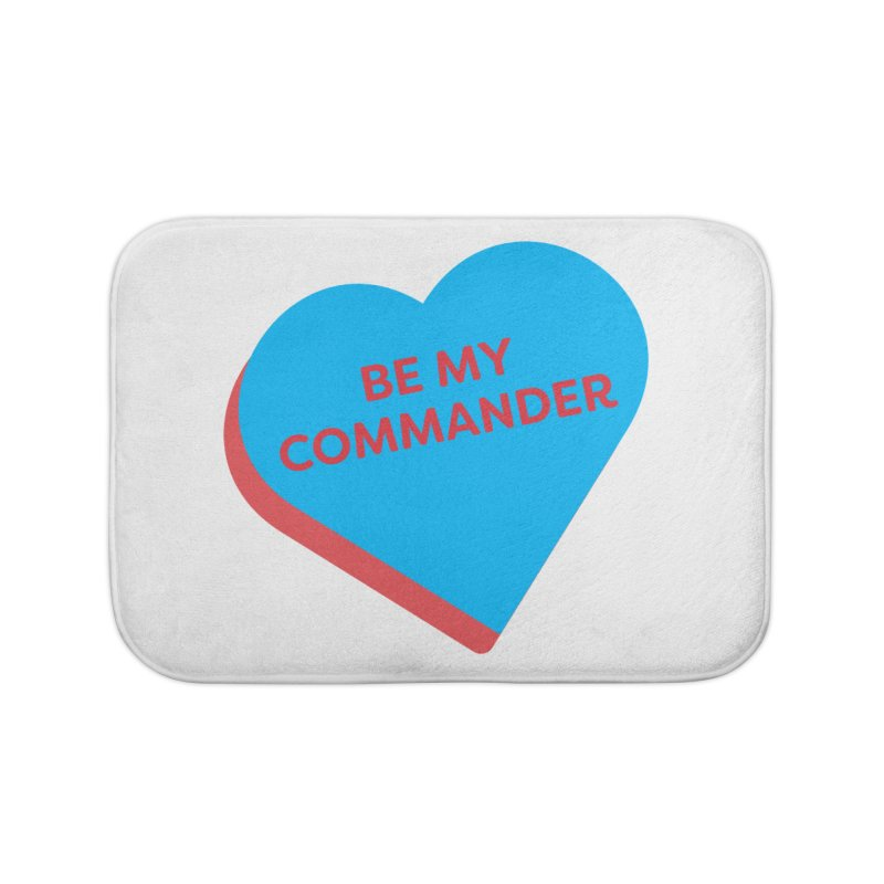 Be My Commander (Magic the Gathering Valentine - Commander) Home Bath Mat by The Schwaggering