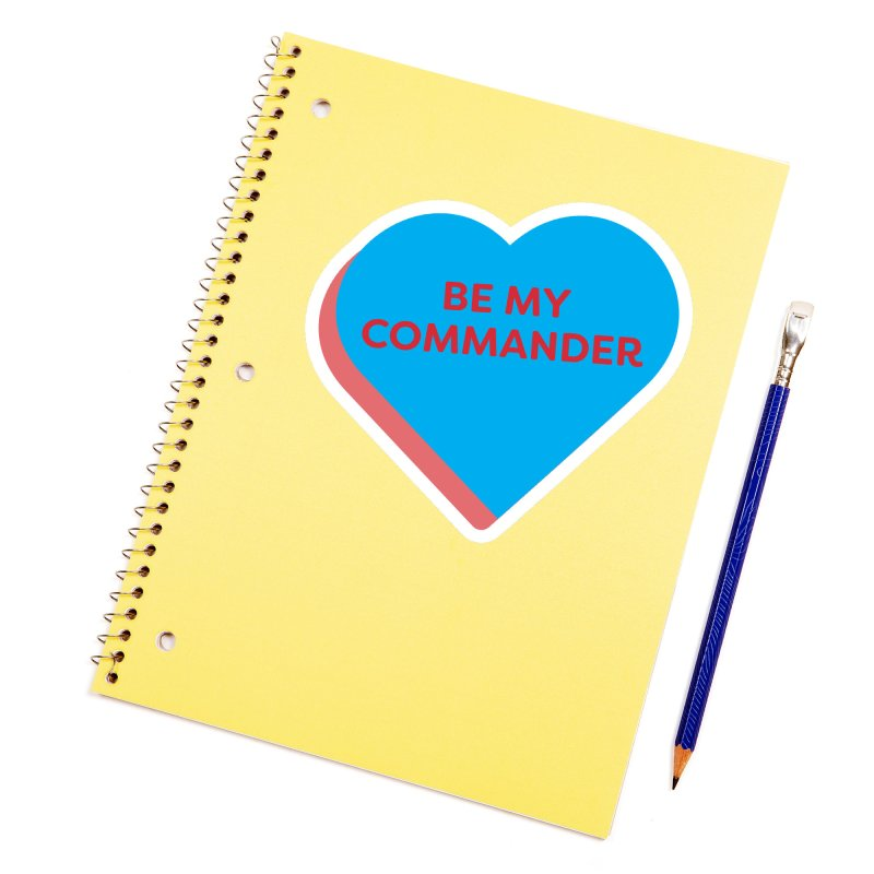 Be My Commander (Magic the Gathering Valentine - Commander) Accessories Sticker by The Schwaggering