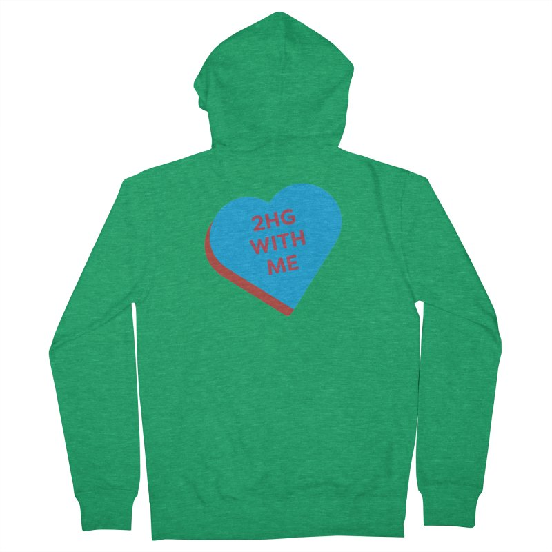 2HG With Me (Magic the Gathering Valentine - Two Headed Giant) Men's Zip-Up Hoody by The Schwaggering