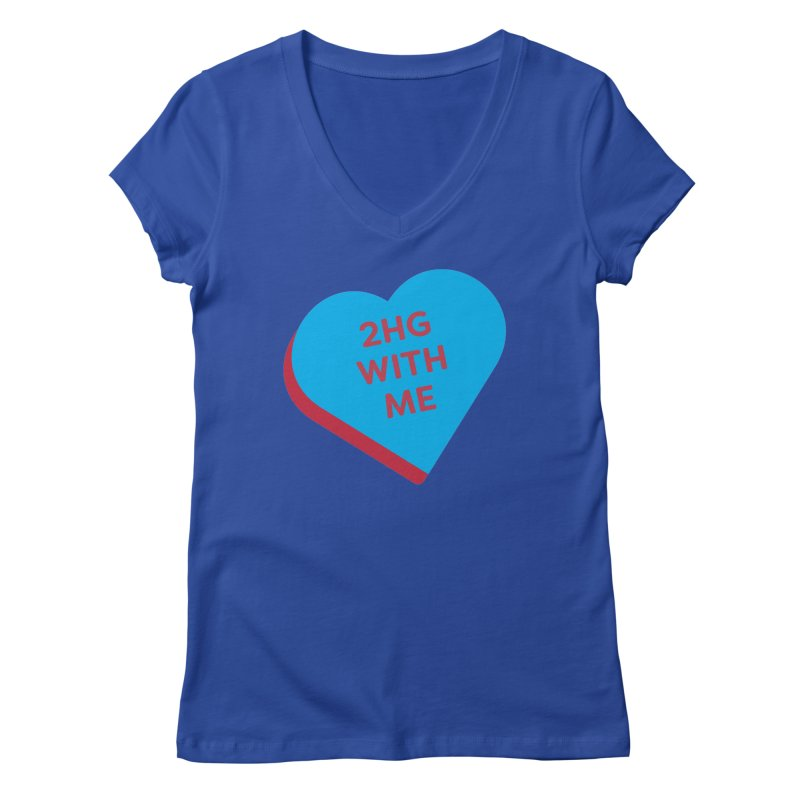 2HG With Me (Magic the Gathering Valentine - Two Headed Giant) Women's V-Neck by The Schwaggering