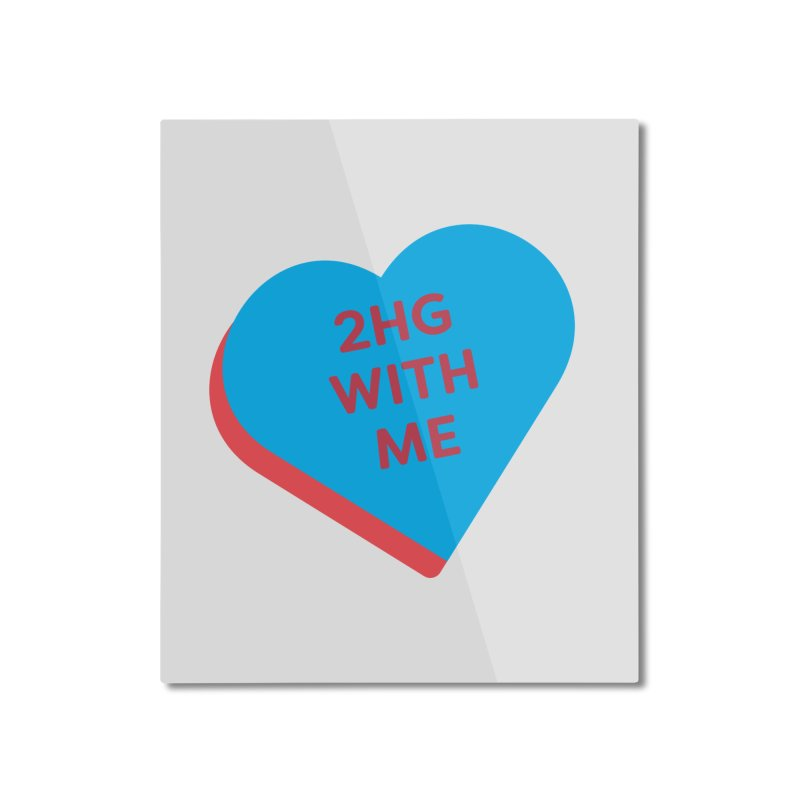 2HG With Me (Magic the Gathering Valentine - Two Headed Giant) Home Mounted Aluminum Print by The Schwaggering