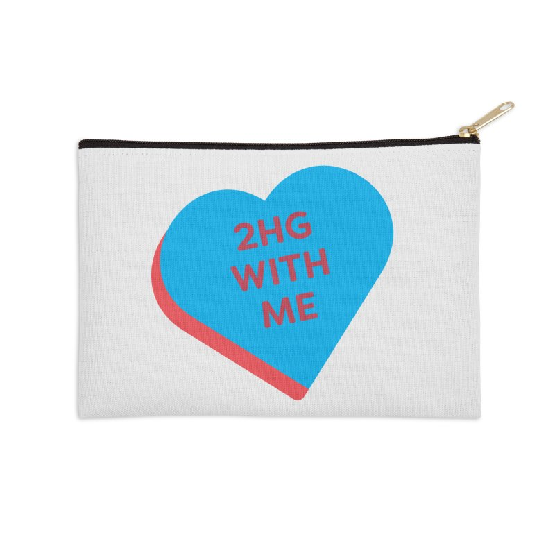 2HG With Me (Magic the Gathering Valentine - Two Headed Giant) Accessories Zip Pouch by The Schwaggering