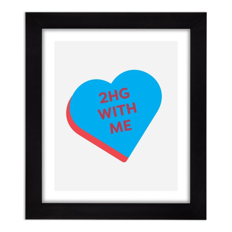 2HG With Me (Magic the Gathering Valentine - Two Headed Giant) Home Framed Fine Art Print by The Schwaggering