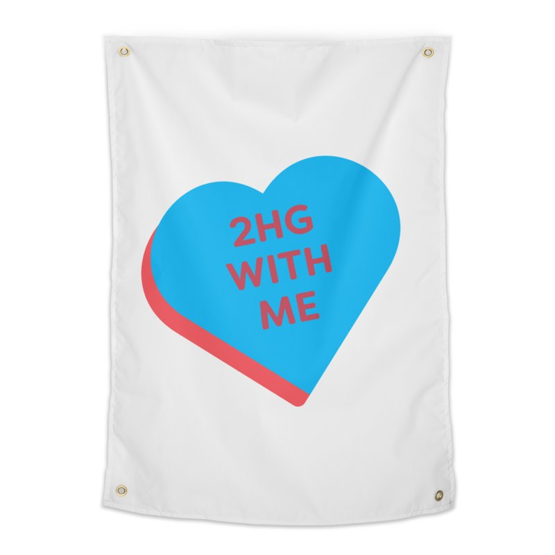 2HG With Me (Magic the Gathering Valentine - Two Headed Giant) Home Tapestry by The Schwaggering