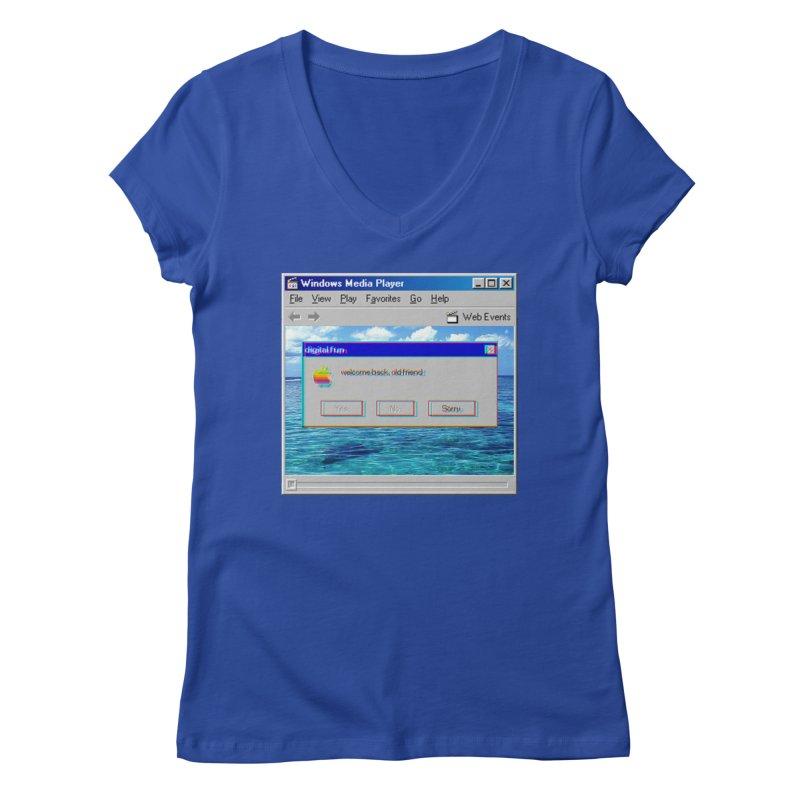 digitalfun.avi Women's V-Neck by The Science Of