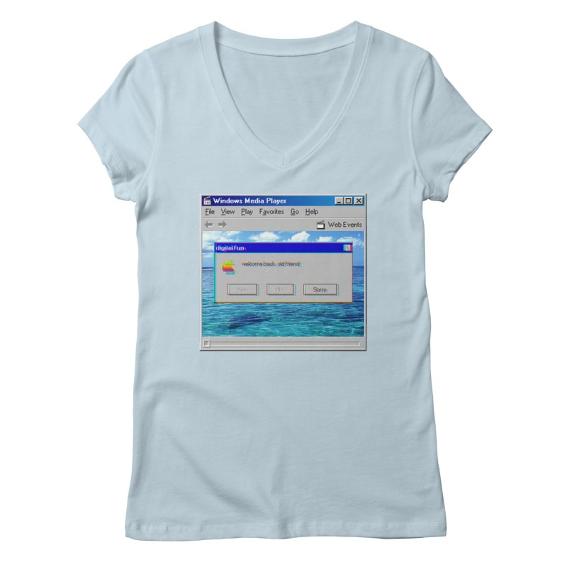 digitalfun.avi Women's V-Neck by The Science Of