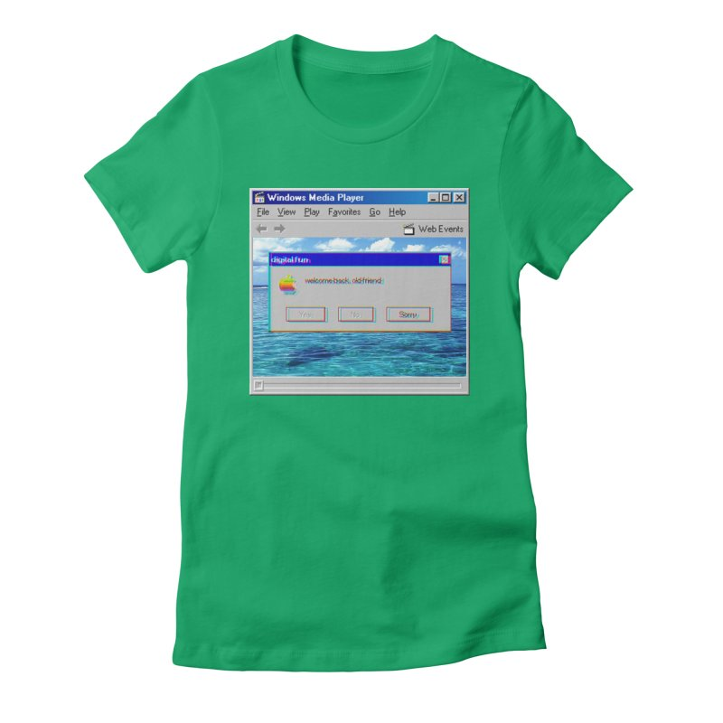 digitalfun.avi Women's Fitted T-Shirt by The Science Of