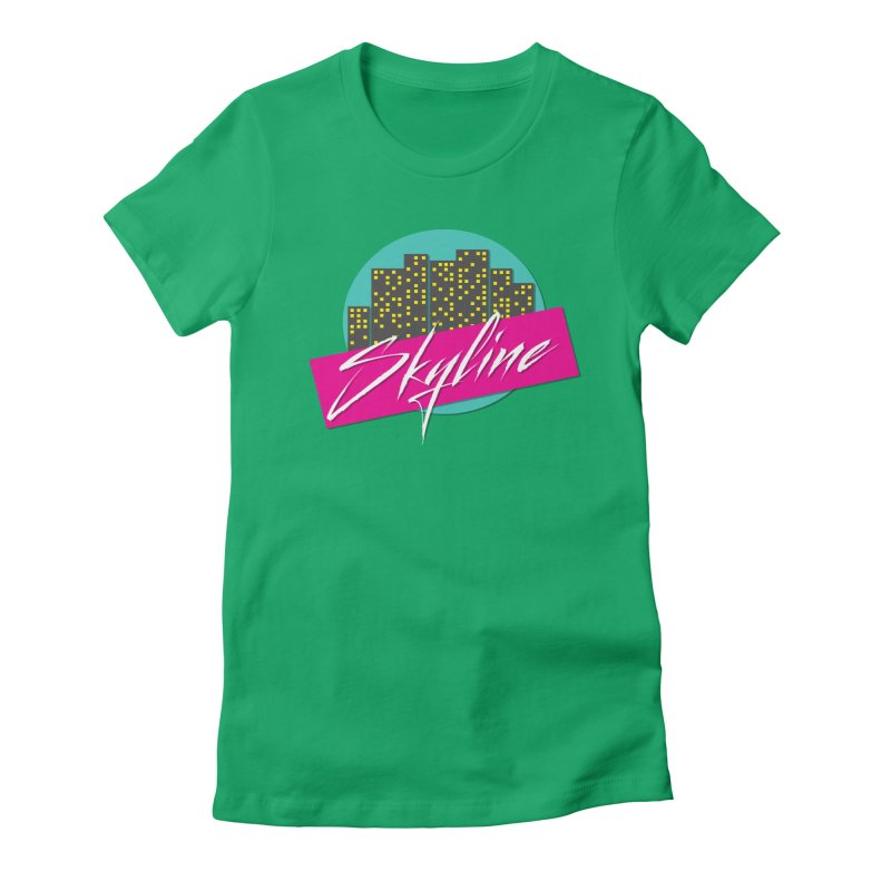 Skyline Women's Fitted T-Shirt by The Science Of