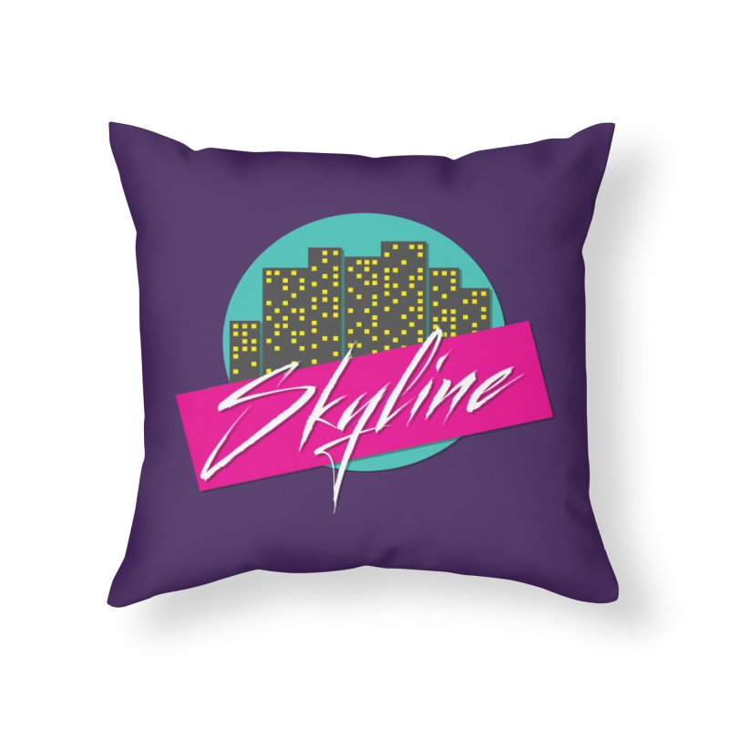 Skyline Home Throw Pillow by The Science Of