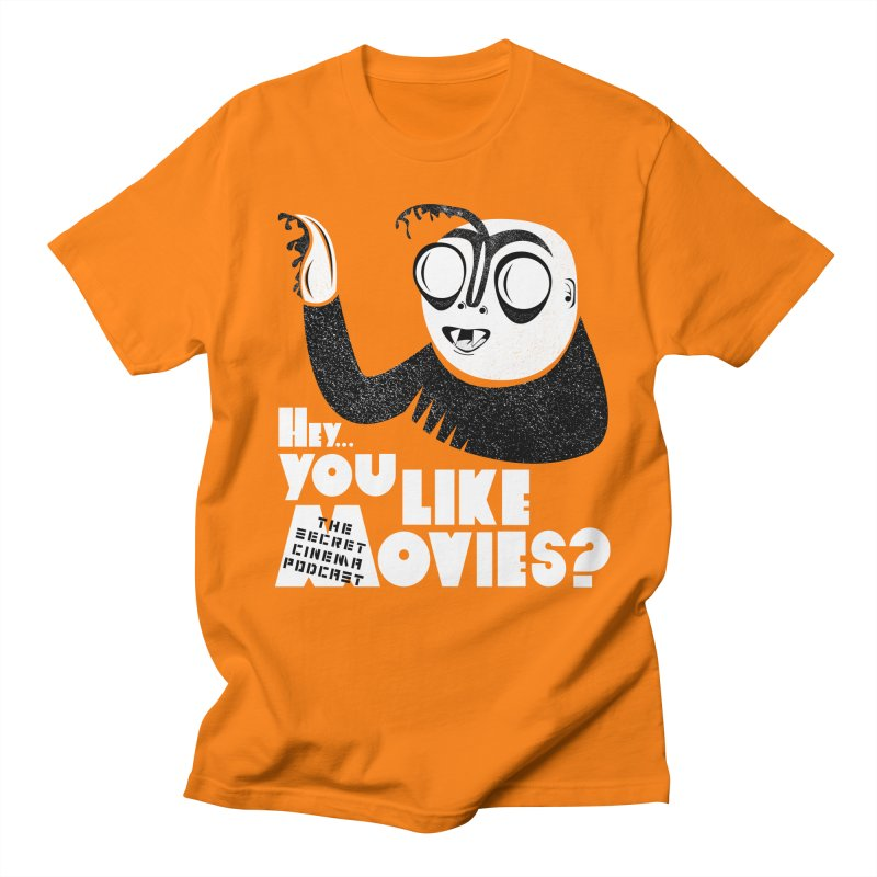 hey...you like movies? Men's Regular T-Shirt by The Secret Cinema Podcast Shop