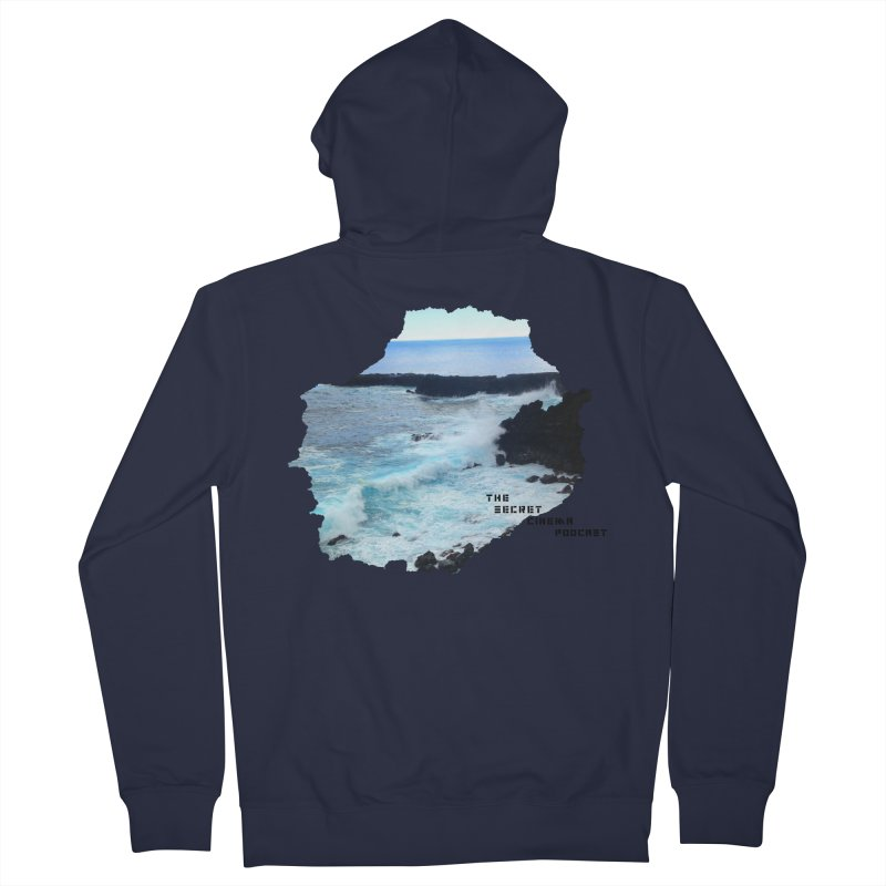 the secret cinema podcast : island edition Men's French Terry Zip-Up Hoody by The Secret Cinema Podcast Shop