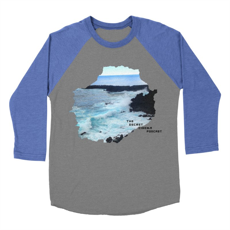 the secret cinema podcast : island edition Men's Baseball Triblend Longsleeve T-Shirt by The Secret Cinema Podcast Shop