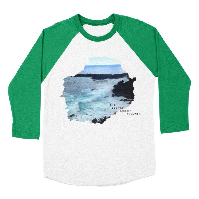 the secret cinema podcast : island edition Men's Baseball Triblend Longsleeve T-Shirt by The Secret Cinema Podcast Shop