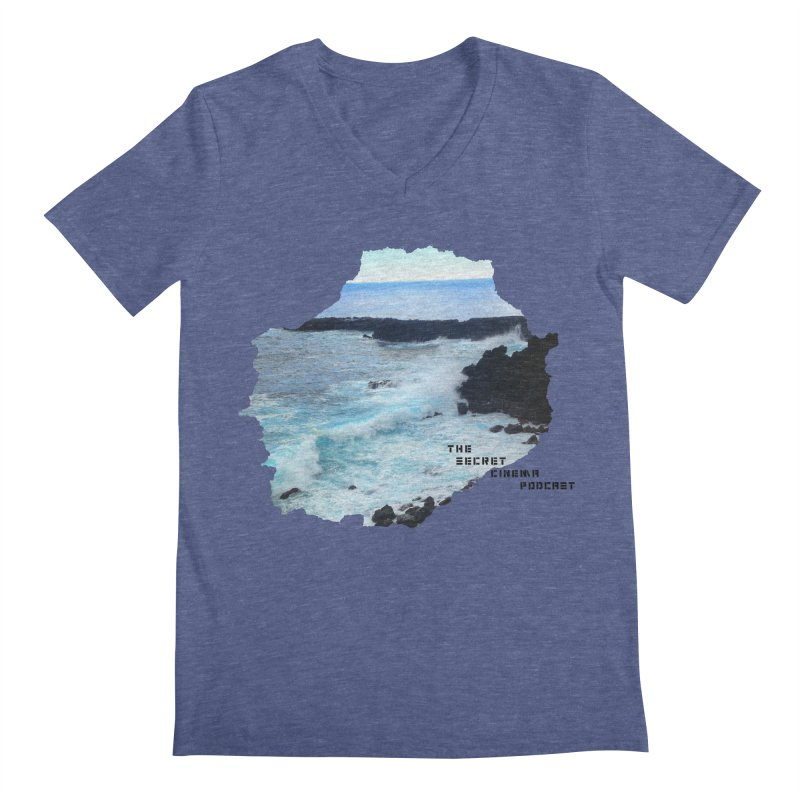 the secret cinema podcast : island edition Men's Regular V-Neck by The Secret Cinema Podcast Shop