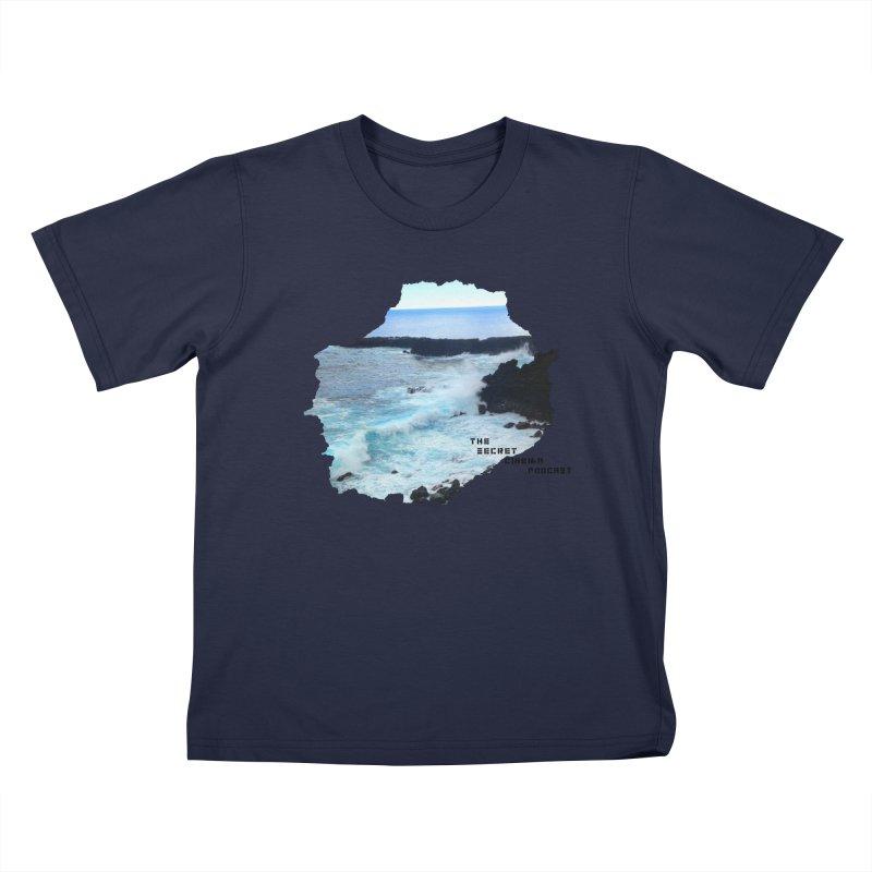the secret cinema podcast : island edition Kids T-Shirt by The Secret Cinema Podcast Shop
