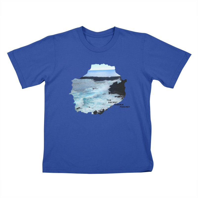 the secret cinema podcast : island edition Kids T-Shirt by The Secret Cinema Podcast Shop