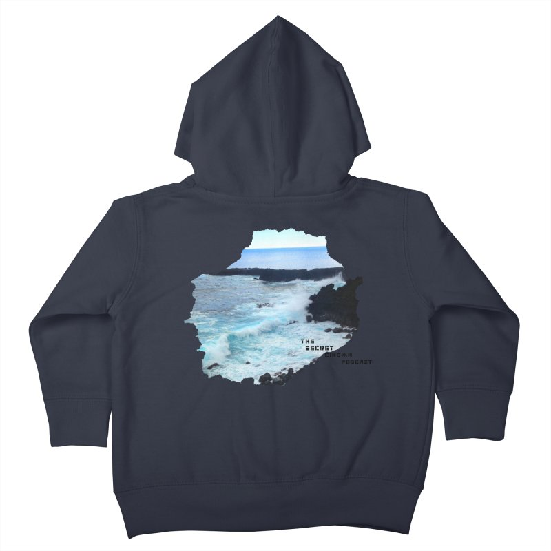 the secret cinema podcast : island edition Kids Toddler Zip-Up Hoody by The Secret Cinema Podcast Shop