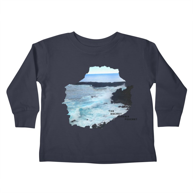 the secret cinema podcast : island edition Kids Toddler Longsleeve T-Shirt by The Secret Cinema Podcast Shop