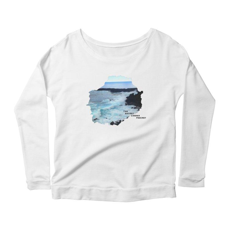 the secret cinema podcast : island edition Women's Scoop Neck Longsleeve T-Shirt by The Secret Cinema Podcast Shop