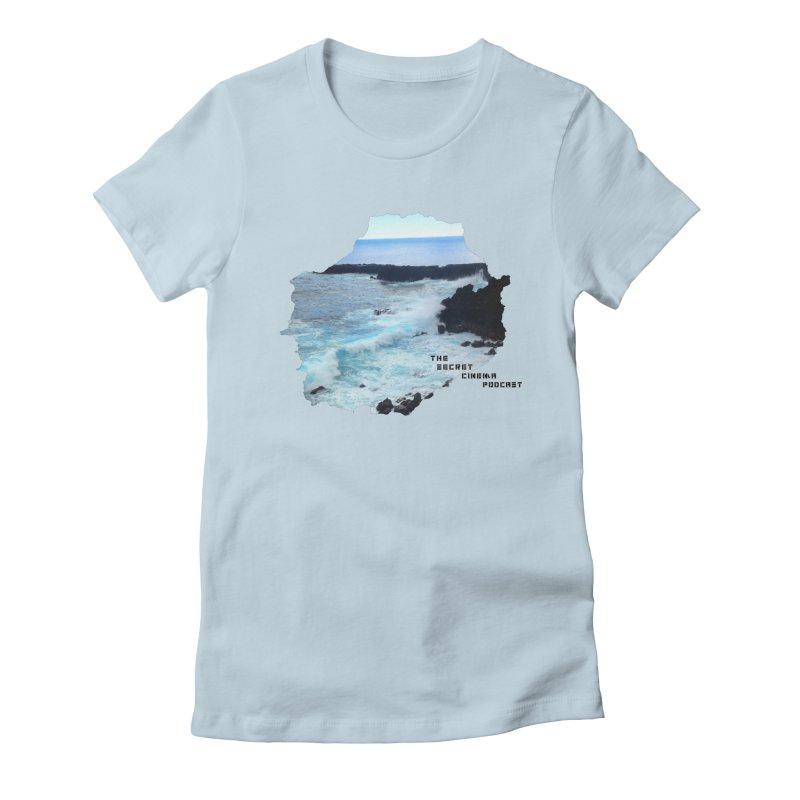 the secret cinema podcast : island edition Women's Fitted T-Shirt by The Secret Cinema Podcast Shop