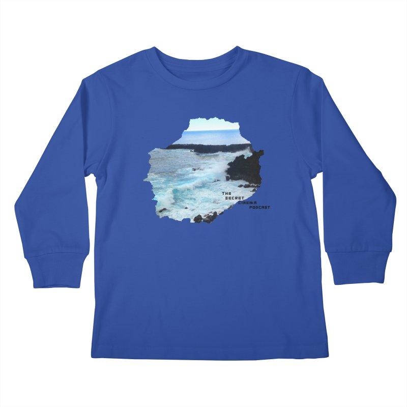 the secret cinema podcast : island edition Kids Longsleeve T-Shirt by The Secret Cinema Podcast Shop