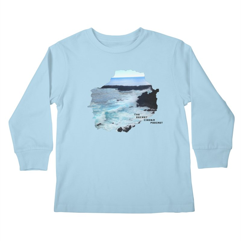 the secret cinema podcast : island edition Kids Longsleeve T-Shirt by The Secret Cinema Podcast Shop
