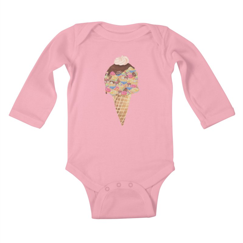 Tee Perfect Dessert Kids Baby Longsleeve Bodysuit by Lost in Space