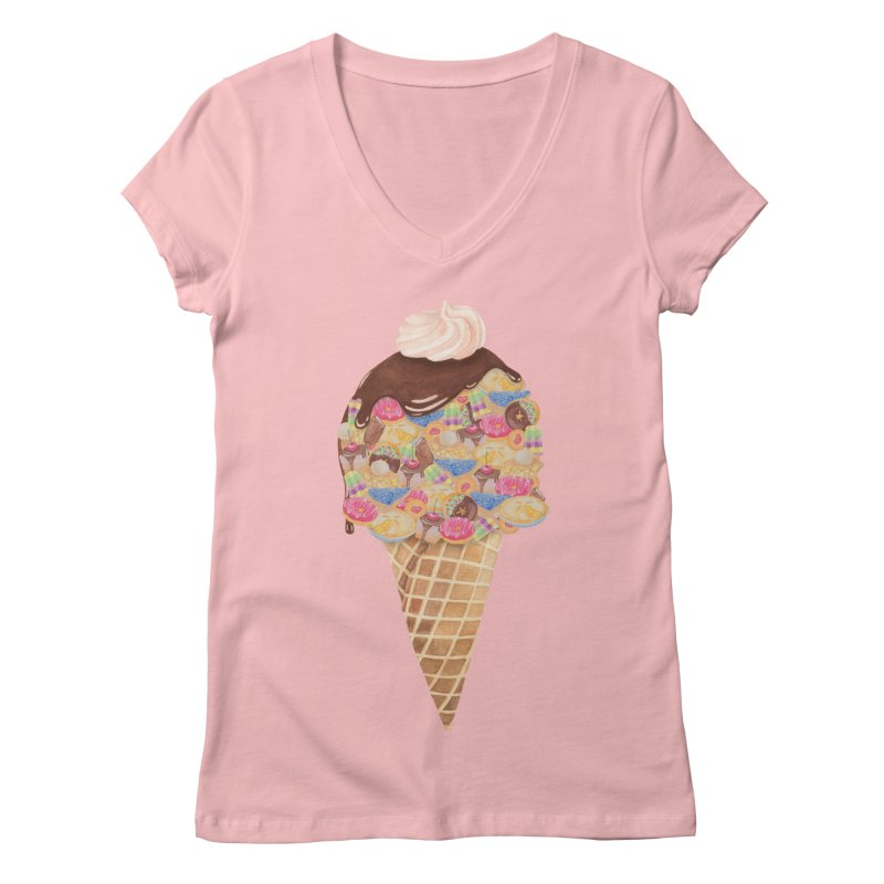 Tee Perfect Dessert Women's V-Neck by Lost in Space