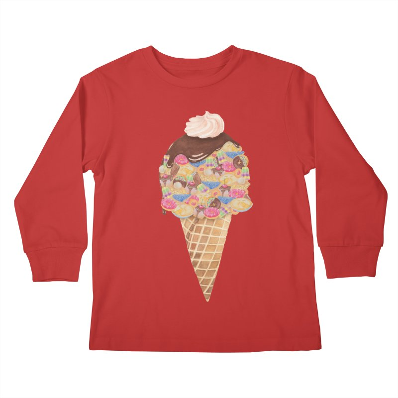 Tee Perfect Dessert Kids Longsleeve T-Shirt by Lost in Space