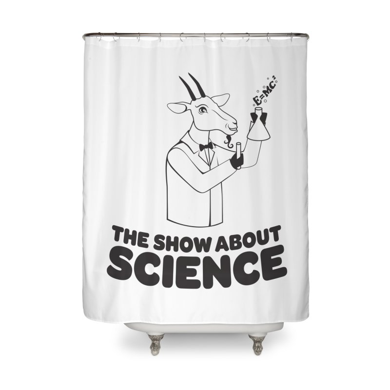 E=MC Goat Home Shower Curtain by theshowaboutscience's Artist Shop
