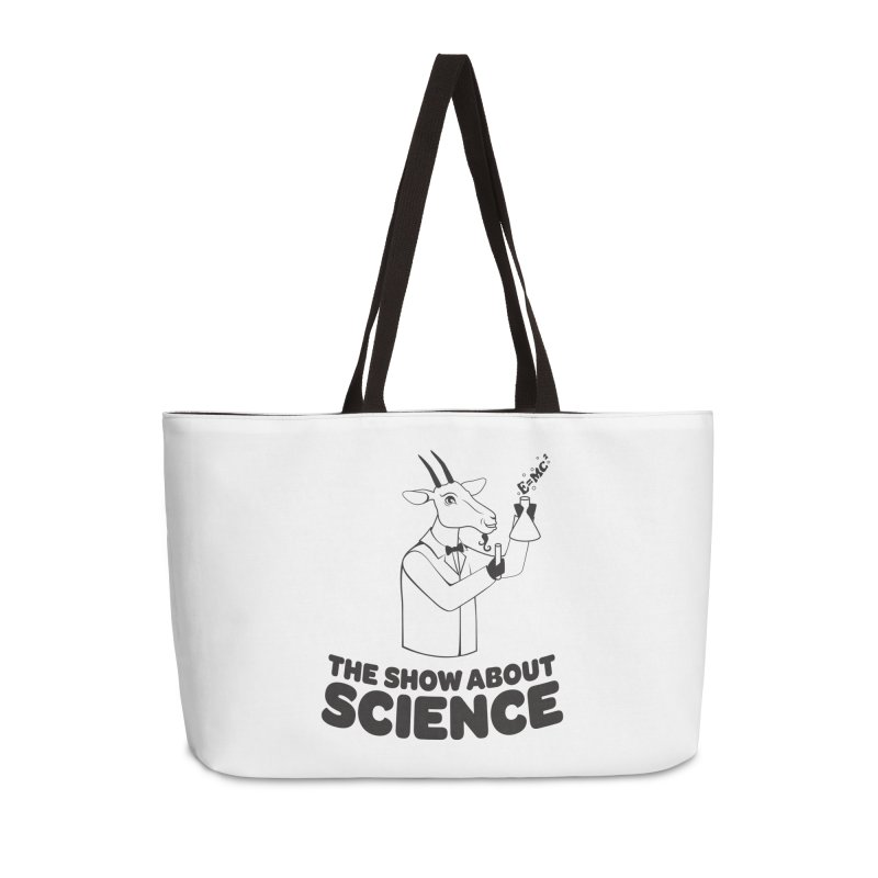E=MC Goat Accessories Weekender Bag Bag by theshowaboutscience's Artist Shop
