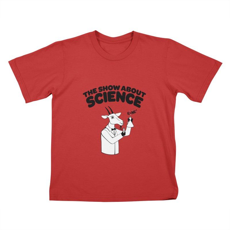 E=MC Goat Kids T-Shirt by theshowaboutscience's Artist Shop