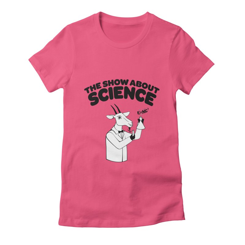 E=MC Goat Women's Fitted T-Shirt by theshowaboutscience's Artist Shop