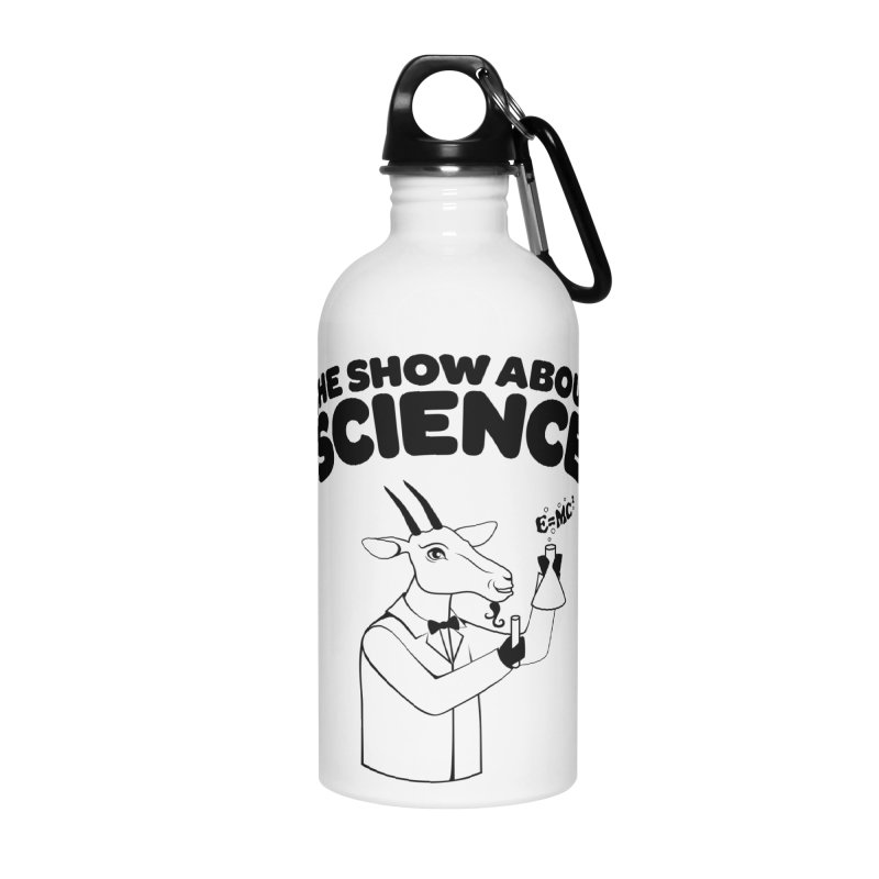 E=MC Goat Accessories Water Bottle by theshowaboutscience's Artist Shop