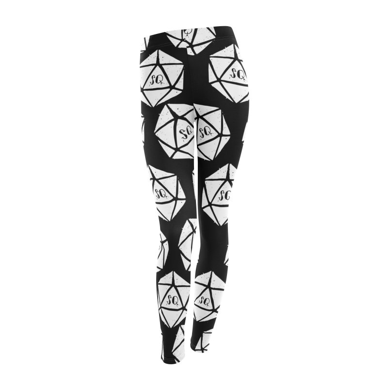 SQ B&W Leggings Women's Bottoms by thesidequest's Artist Shop