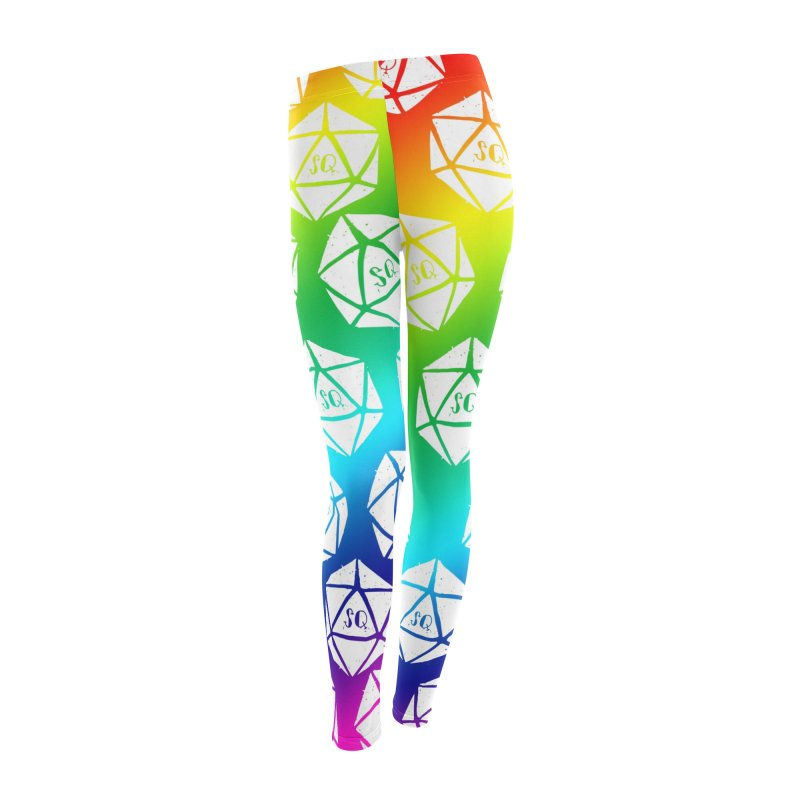 SQRainbowLeggings Women's Bottoms by thesidequest's Artist Shop