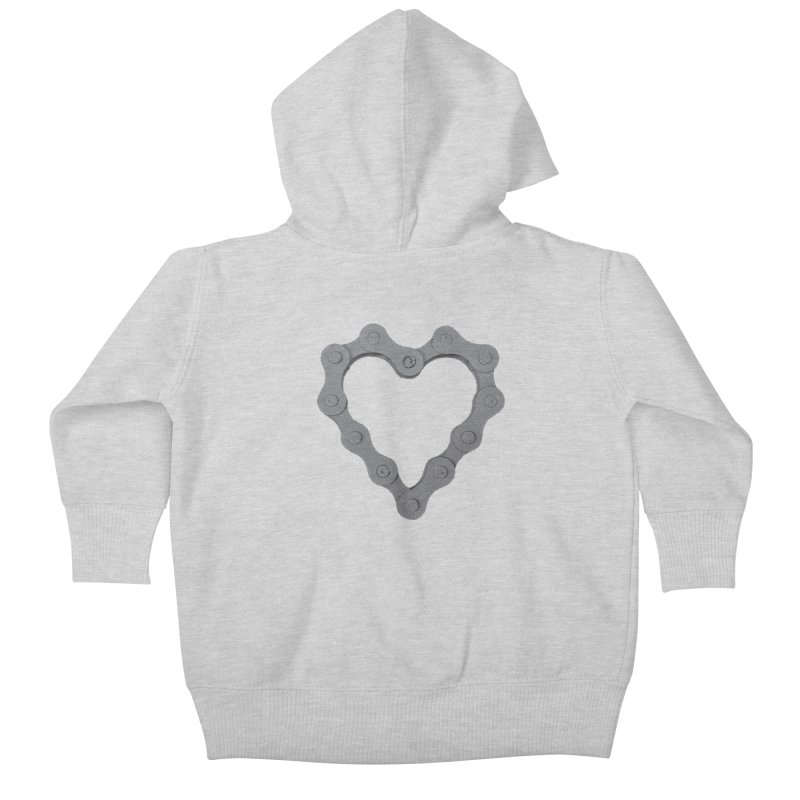 I Love Bike Kids Baby Zip-Up Hoody by CRANK. outdoors + music lifestyle clothing