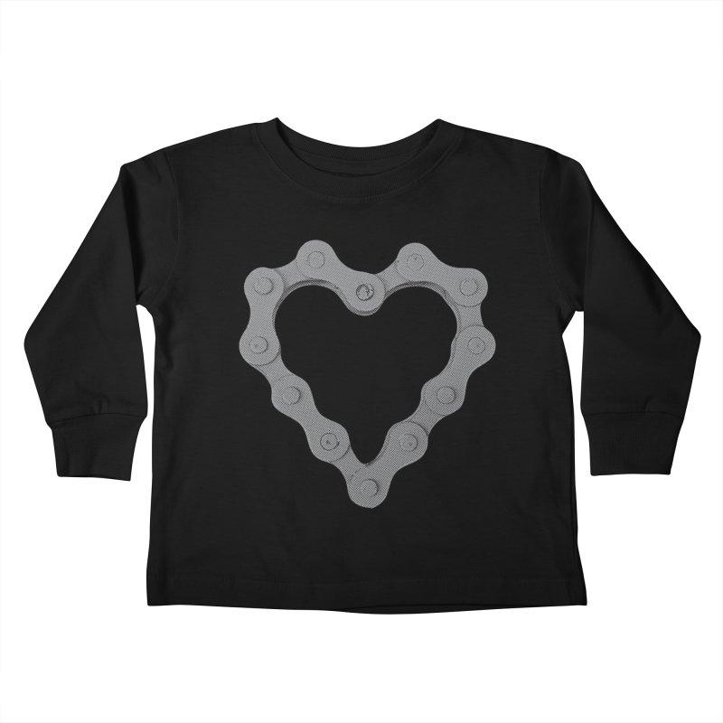 I Love Bike Kids Toddler Longsleeve T-Shirt by CRANK. outdoors + music lifestyle clothing