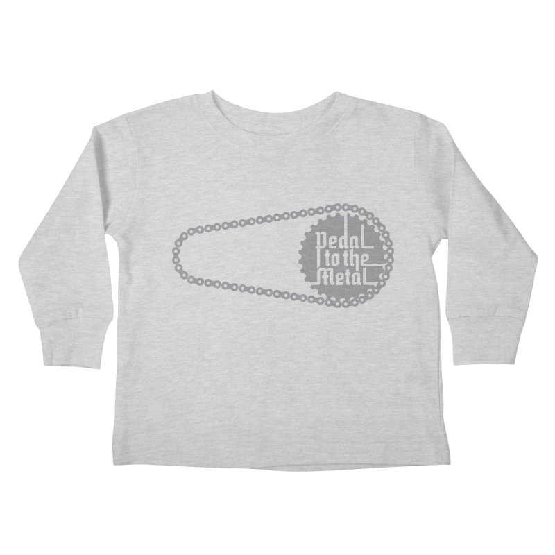 Pedal to the Metal Kids Toddler Longsleeve T-Shirt by CRANK. outdoors + music lifestyle clothing